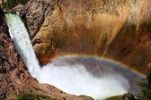Rainbow at Lower Falls - Yellowstone — Stock Photo