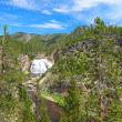 Gibbon Falls in Yellowstone - Stock Photo