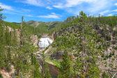 Gibbon Falls in Yellowstone — Stock Photo