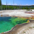 图库照片: Abyss Pool of Yellowstone