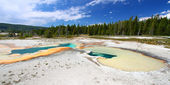 Doublet pool - yellowstone — Stockfoto