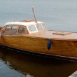 Retro wooden motorboat — Stock Photo