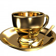 Gold teacup — Stock Photo #7302354