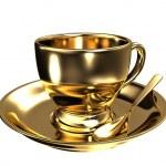 Gold teacup — Stock Photo #7302354