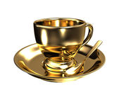 Gold teacup — Stock Photo