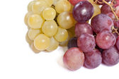 White and black grapes — Stock Photo