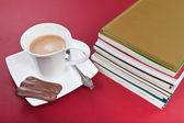 Books and coffe — Stock Photo