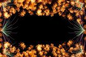 Framework with fireworks — Stock Photo