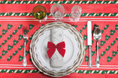 The table at Christmas — Stock Photo