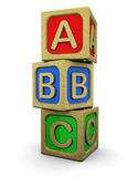Abc blocks — Stock Photo