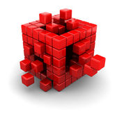 3d boxes structure — Stock Photo