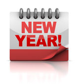 Nový rok kalendář — Stock fotografie