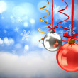 Chistmas balls background — Stock Photo