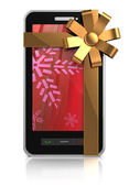 Mobile phone christmas gift — Stockfoto