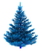 Blue christmas tree — Stockfoto