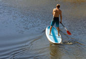Man on a Paddle Board — Stock Photo