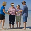 Seniors Enjoying the Beach — Stock Photo