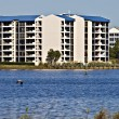 Condominiums Along the Shore of the Ocean — Stock Photo