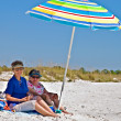 Two Elderly Women at Beach — Stock Photo #7352175