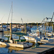 Boats at the Wharf in the Evening — Stock Photo