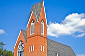 Brick Steeple Architecture — Stock Photo