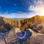 Autumn rocks panorama — Stock Photo #7412256