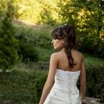 Bride in the park — Stock Photo