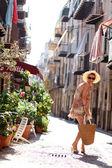Girl in the street — Stock Photo