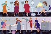 Beauty salon banner hair cut — Stock Vector