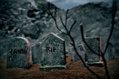 Halloween graves — Stock Photo
