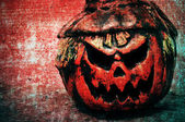 Halloween jack-o'-lantern background — Stock Photo