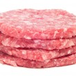Raw burgers — Stock Photo
