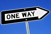 One way sign — Stock Photo