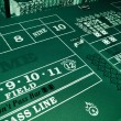 Craps table — Stock Photo