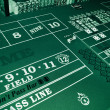 Stock Photo: Craps table