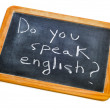 Stock Photo: Do you speak english?