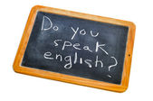 Do you speak english? — Stock Photo