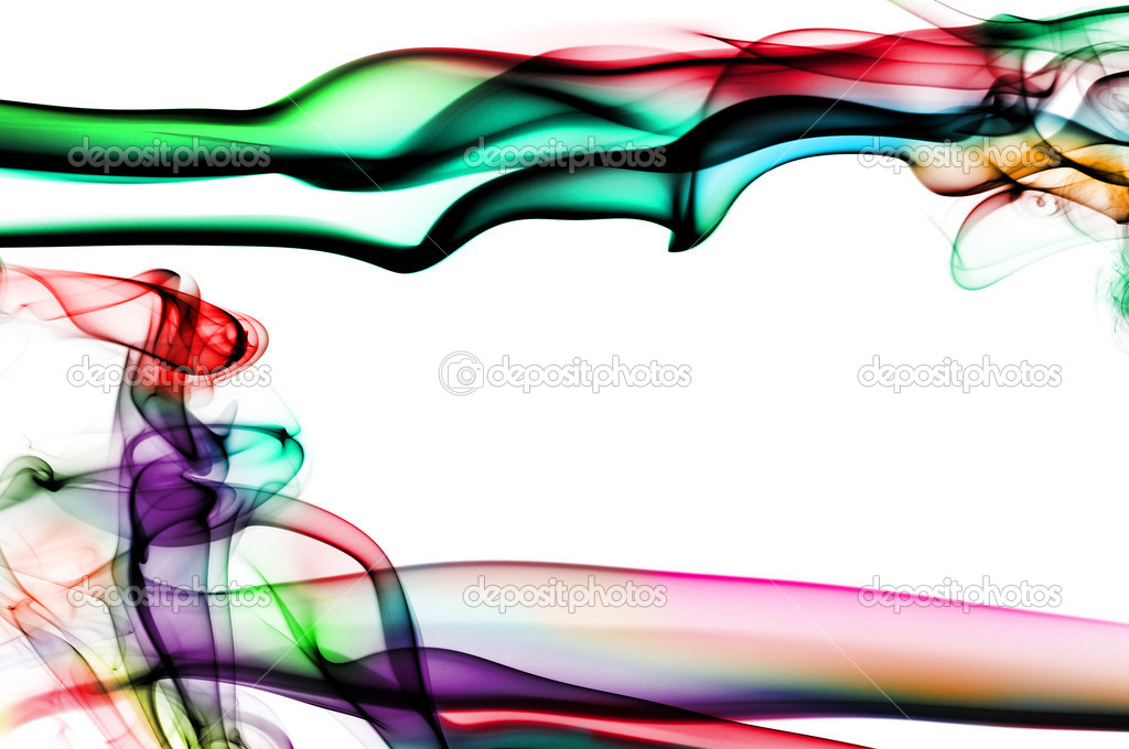 Smoke of different colors on a white background — Stock Photo #7620715