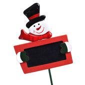 Snowman blackboard — Stock Photo