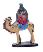 Balthasar Magi riding a camel — Stock Photo