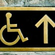Disabled access sign — Stock Photo