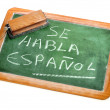 Spanish is spoken - Stock Photo