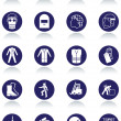 Royalty-Free Stock Imagen vectorial: International communication signs for workplaces.