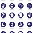 International communication signs for workplaces. — Imagens vectoriais em stock