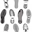 Vector illustration set of footprints. - Image vectorielle