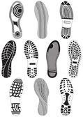 Vector illustration set of footprints. — Stock Vector