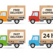 Stock Vector: Delivery truck