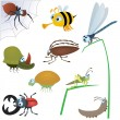 Royalty-Free Stock Vector Image: Funny insect set