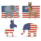 The democrat and republican symbols — Stock Vector