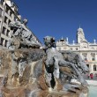 Постер, плакат: Famous fountain in Lyon city